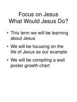 focus on jesus what would jesus do