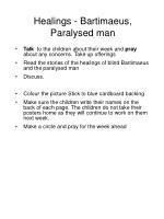 healings bartimaeus paralysed man