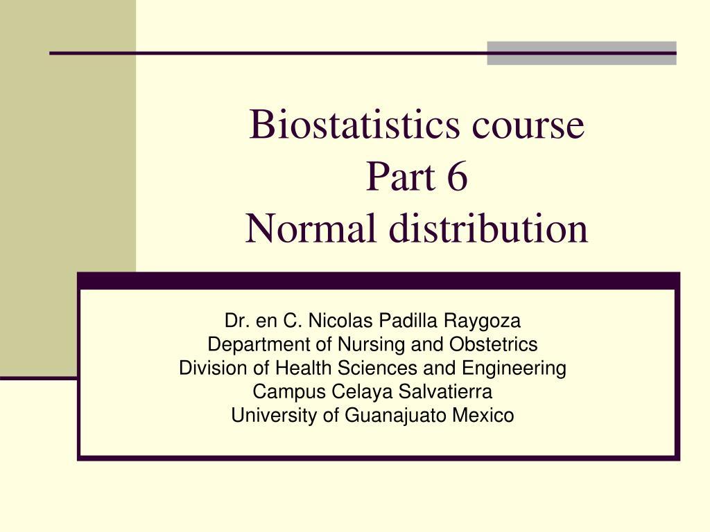 Biostatistics course