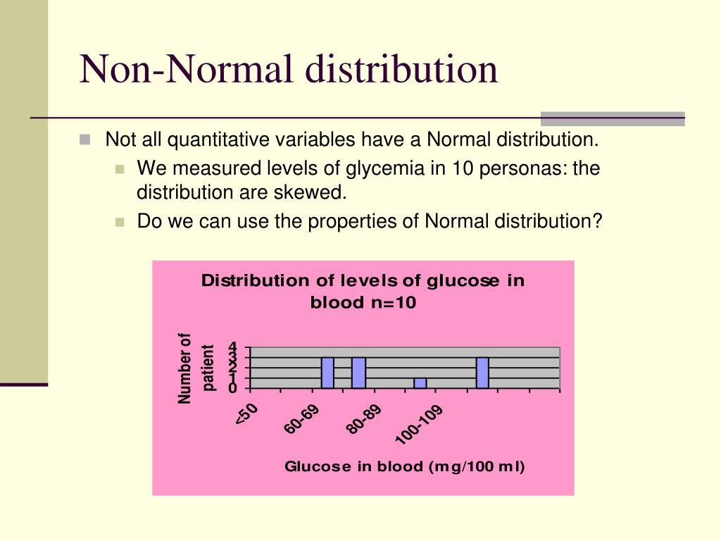 Non-Normal distribution