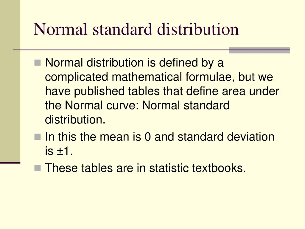 Normal standard distribution