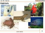 unit 4b habitats