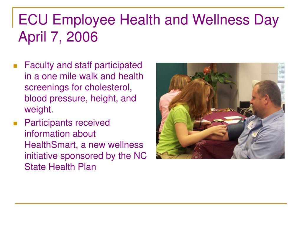 ECU Employee Health and Wellness Day