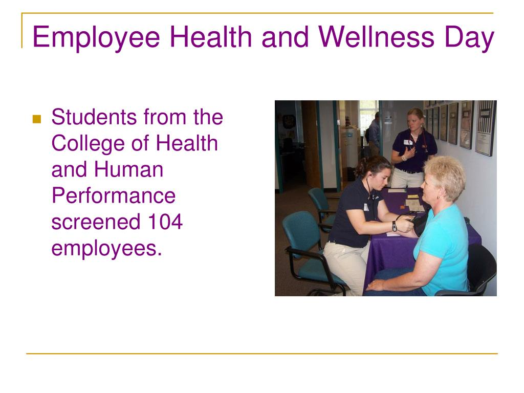 Employee Health and Wellness Day