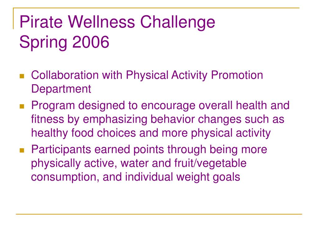 Pirate Wellness Challenge