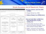single european act maastricht treaty