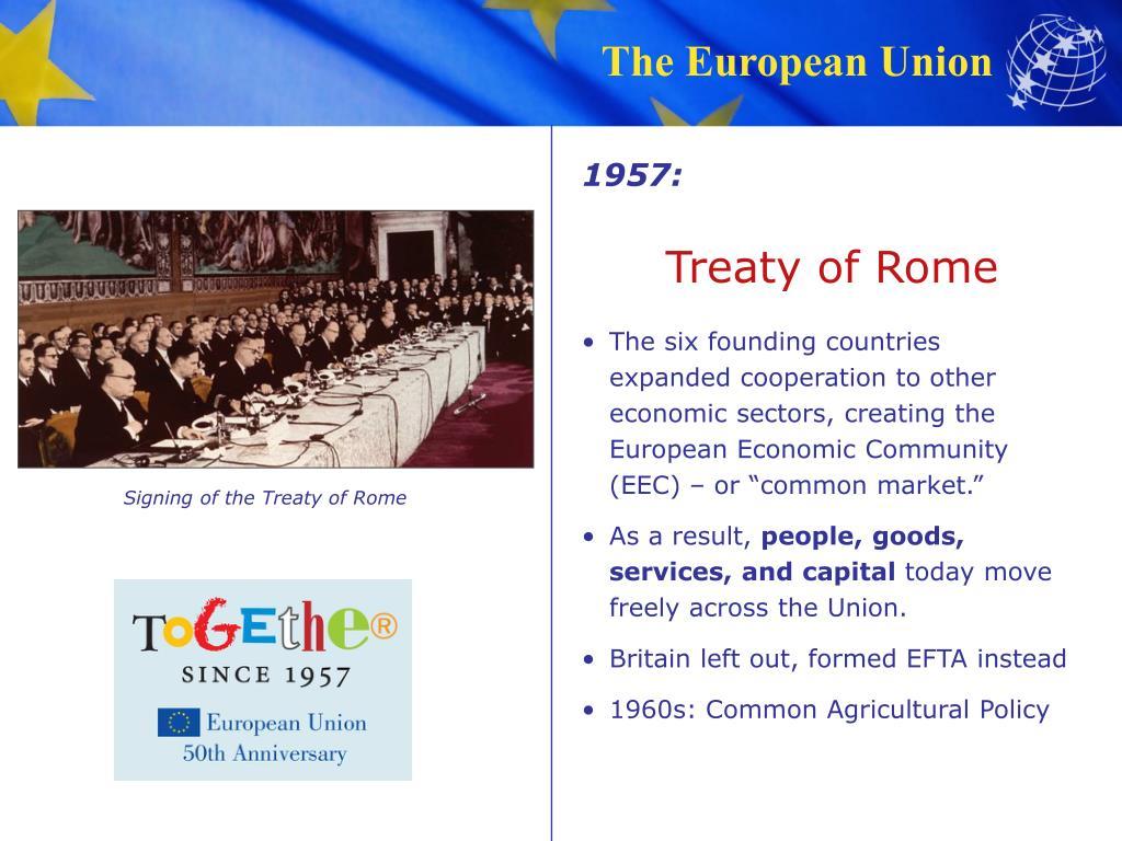 The treaty of rome 1957 pdf