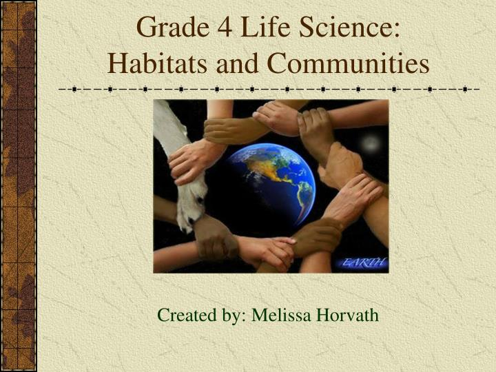 grade 4 life science habitats and communities n.