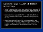 arguments used against turkish membership44
