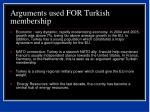 arguments used for turkish membership