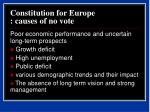 constitution for europe causes of no vote