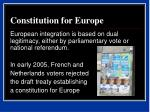 constitution for europe
