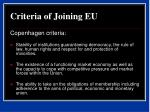 criteria of joining eu