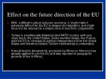 effect on the future direction of the eu