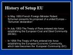 history of setup eu