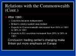 relations with the commonwealth cont