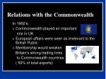 relations with the commonwealth