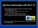 special relationship with the u s