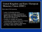 united kingdom and euro european monetary union emu