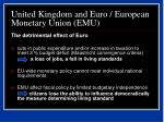 united kingdom and euro european monetary union emu36