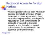 reciprocal access to foreign markets