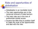 risks and opportunities of globalisation
