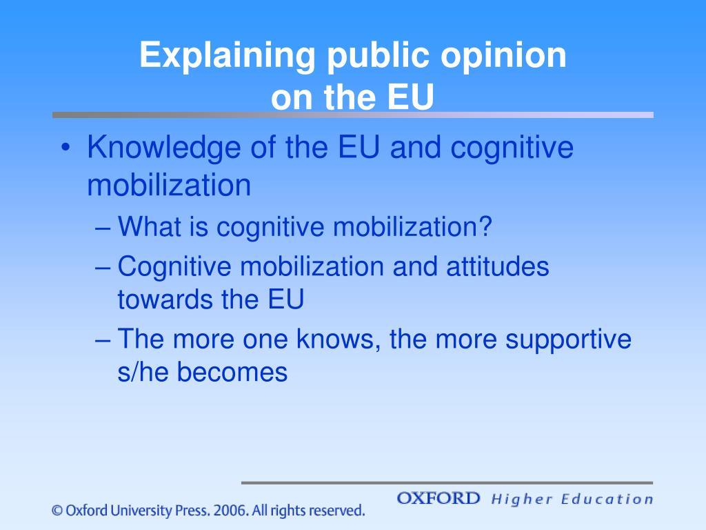 Explaining public opinion
