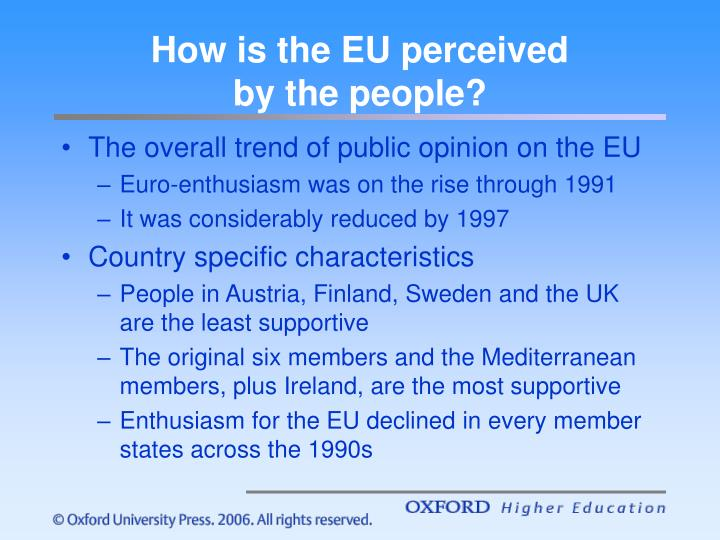 How is the eu perceived by the people