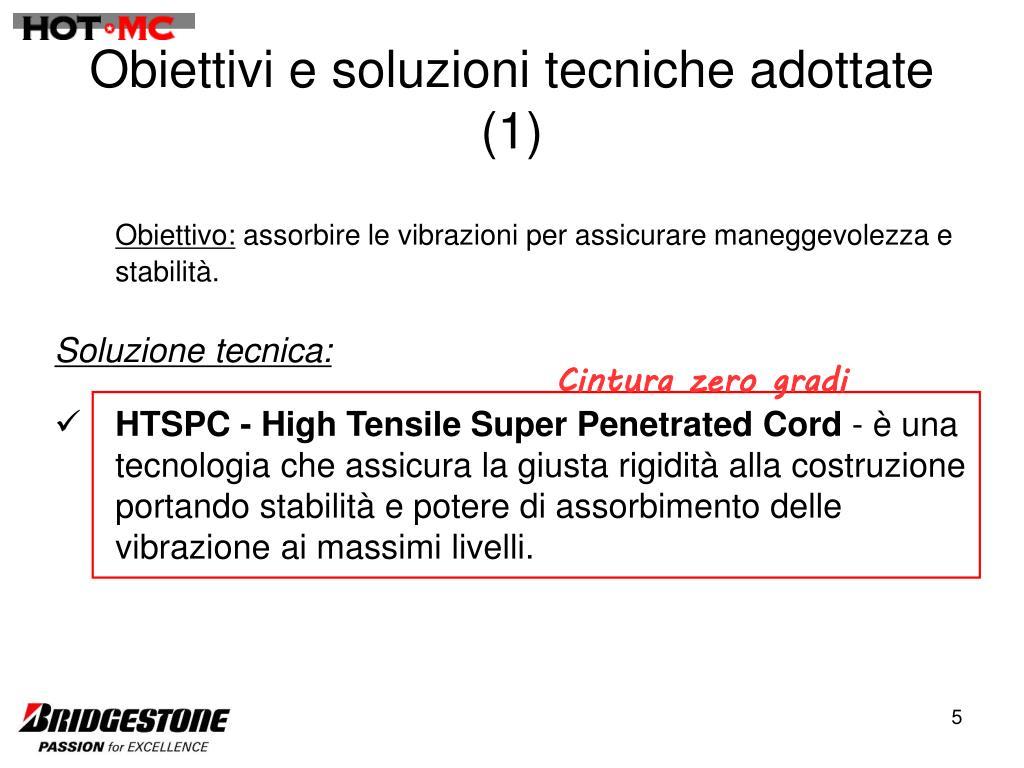 Obiettivi e soluzioni tecniche adottate (1)