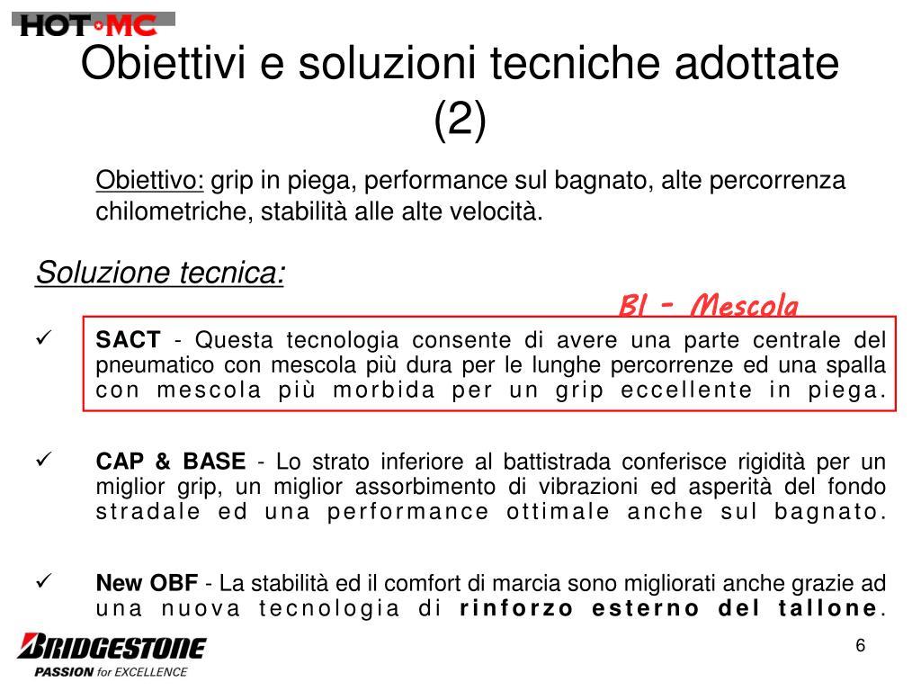 Obiettivi e soluzioni tecniche adottate (2)