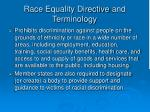 race equality directive and terminology