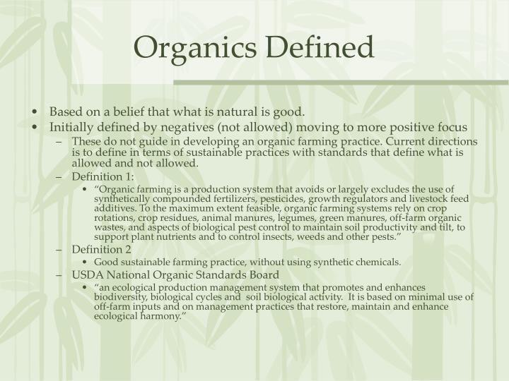 organic farming is a sustainable system of What are the benefits of organic food and farming is there any evidence that organic food is healthier.