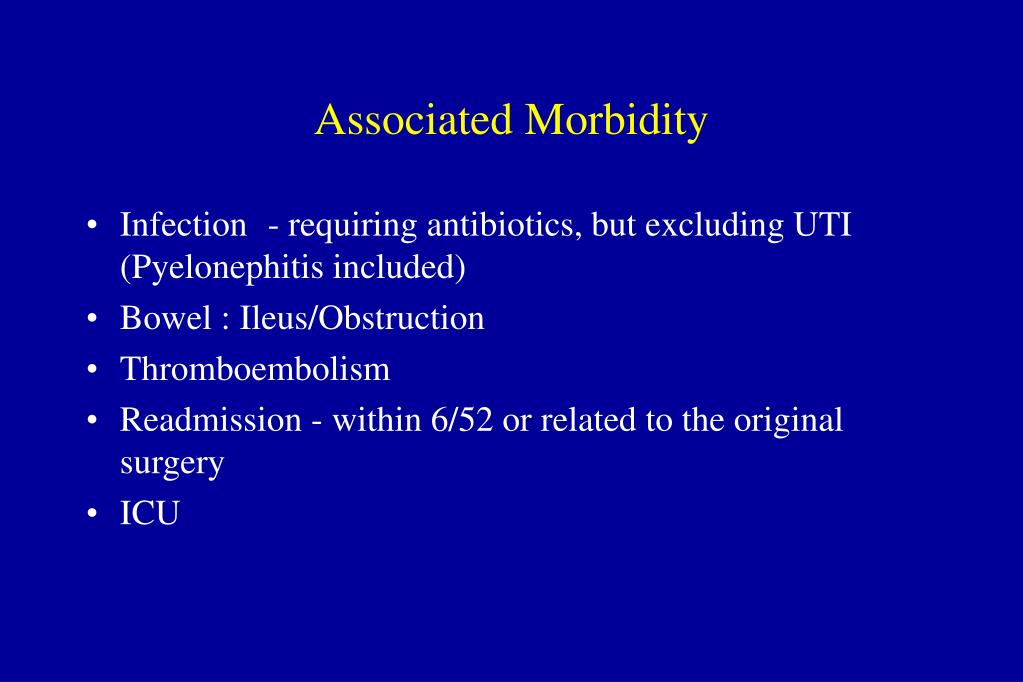 Associated Morbidity