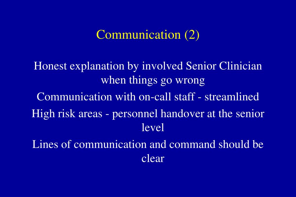 Communication (2)