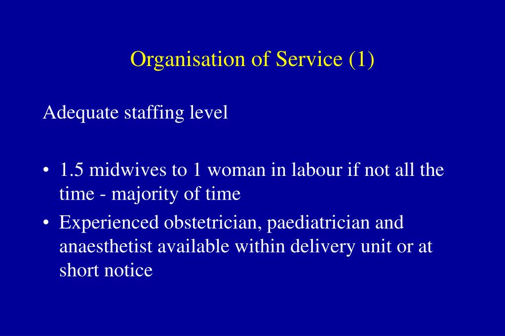 Organisation of Service (1)