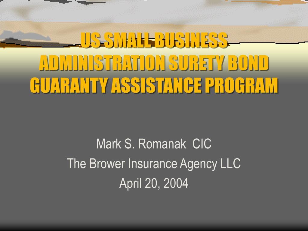 us small business administration surety bond guaranty assistance program