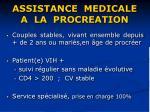 assistance medicale a la procreation36
