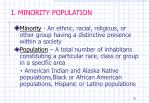 i minority population