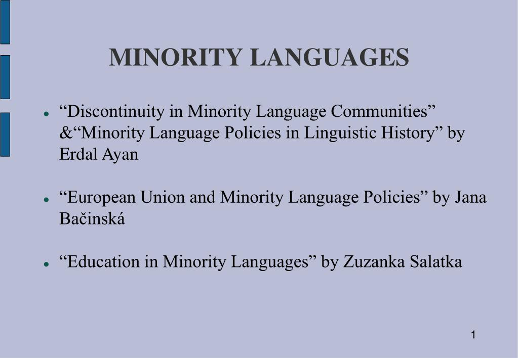 minority languages l.