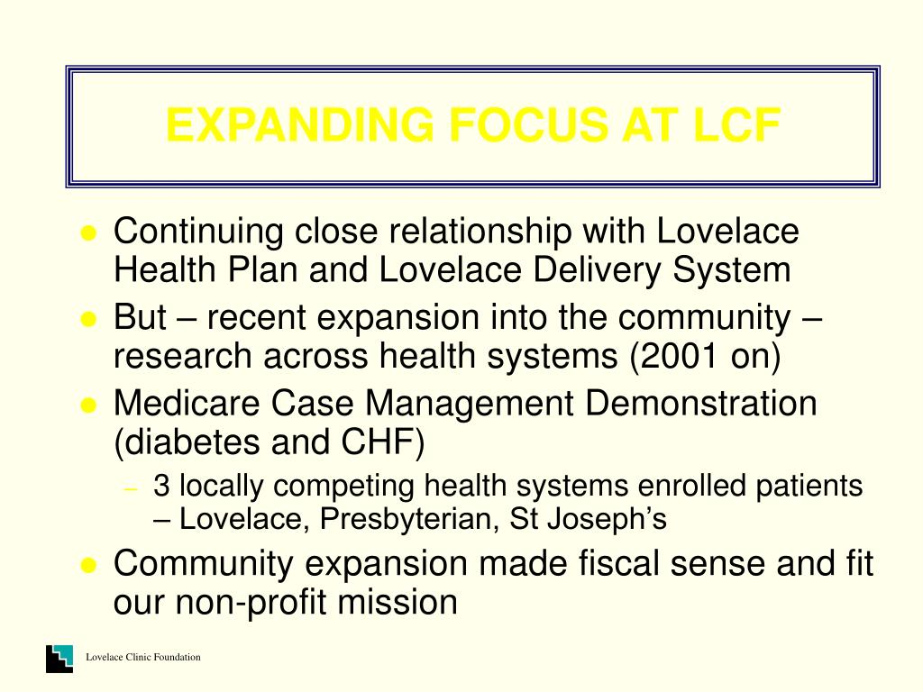 EXPANDING FOCUS AT LCF