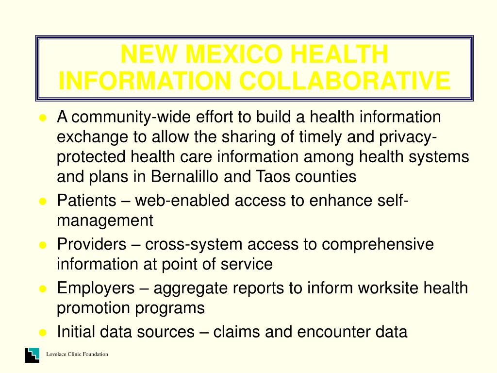 NEW MEXICO HEALTH INFORMATION COLLABORATIVE