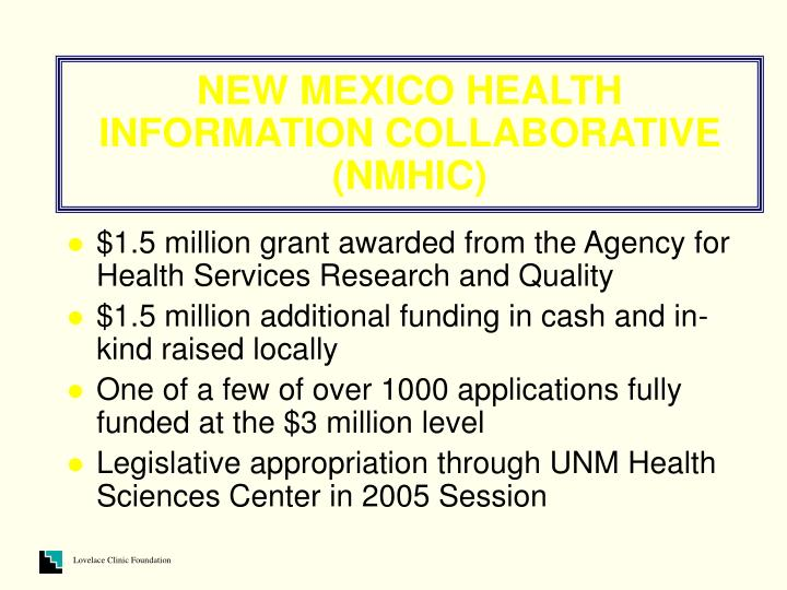 New mexico health information collaborative nmhic