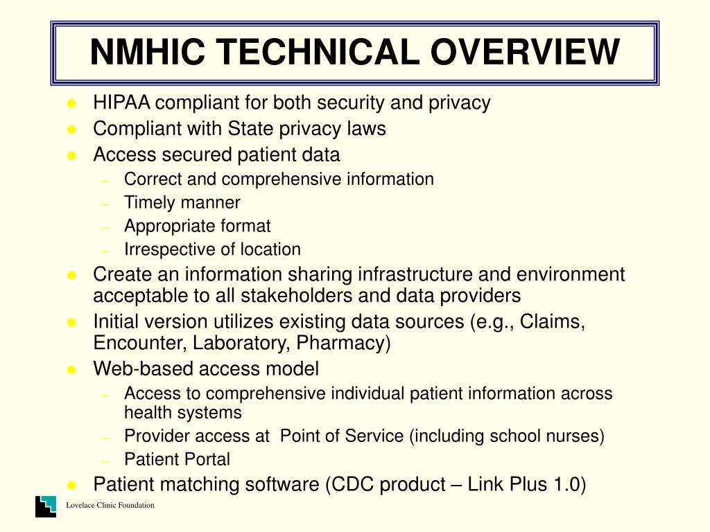 NMHIC TECHNICAL OVERVIEW