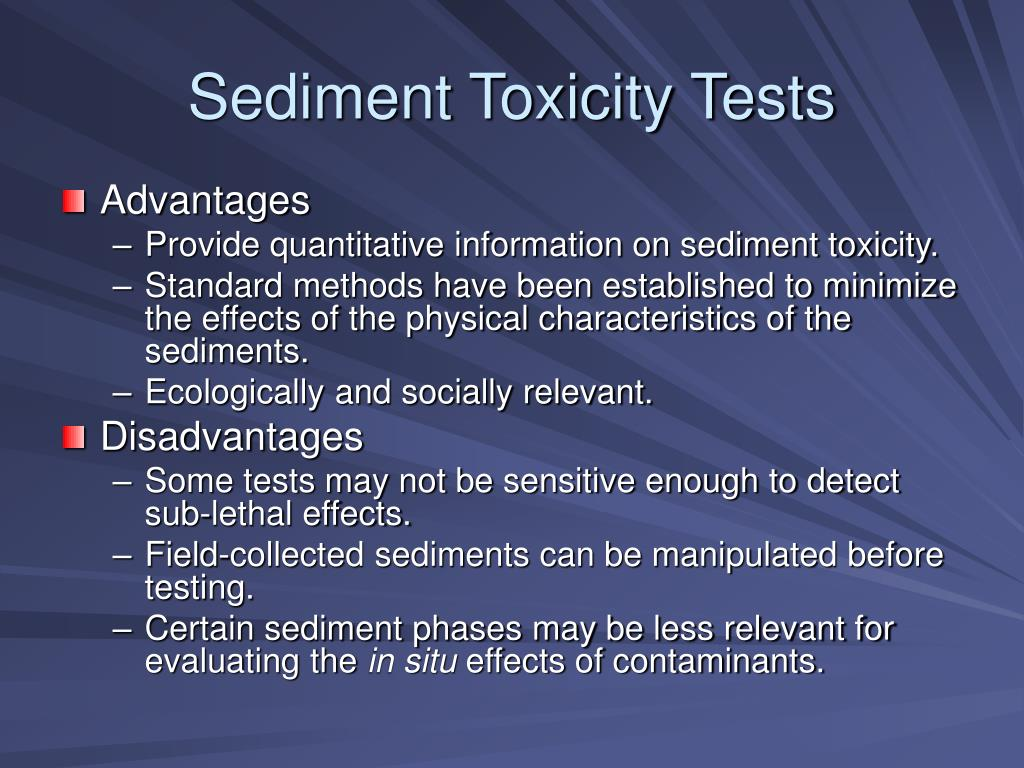 Sediment Toxicity Tests