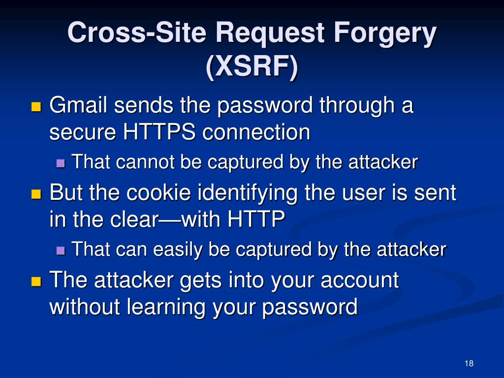 Cross-Site Request Forgery (XSRF)