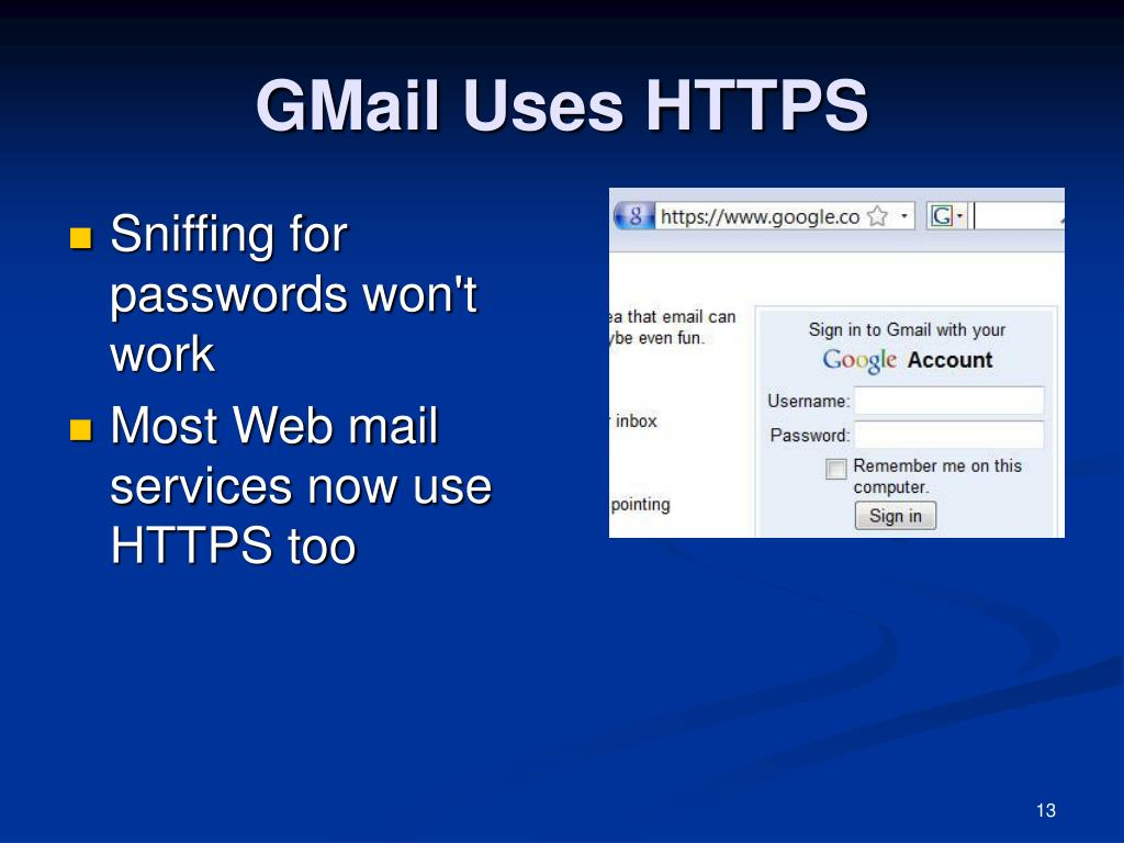 GMail Uses HTTPS