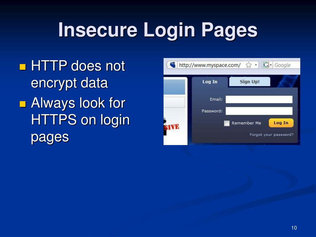 Insecure Login Pages