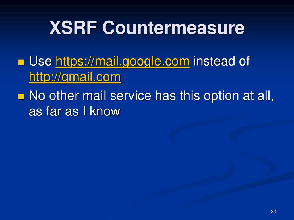 XSRF Countermeasure