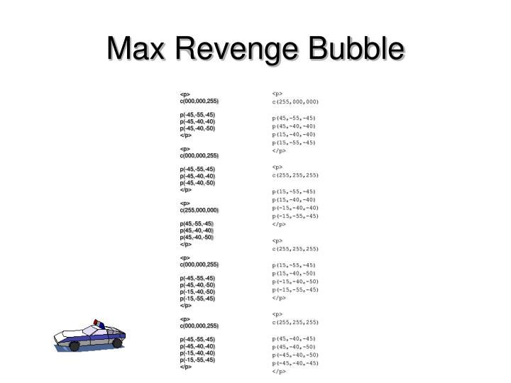 Max Revenge Bubble