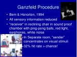 ganzfeld procedure